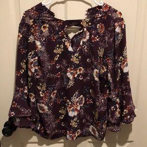 Half sleeved floral blouse